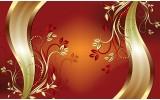 Fotobehang Vlies   Klassiek, Bloemen   Oranje   254x184cm