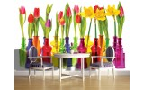 Fotobehang Vlies | Bloemen, Tulpen | Rood | 254x184cm