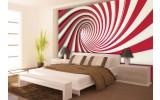 Fotobehang Vlies | Design, Slaapkamer | Rood, Wit | 254x184cm