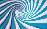 Fotobehang Vlies | Design | Blauw, Wit | 254x184cm
