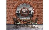 Fotobehang Vlies   Muur, New York   Bruin   254x184cm