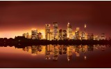 Fotobehang Vlies | Skyline, Steden | Bruin | 254x184cm