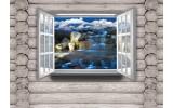 Fotobehang Vlies | Hout, Natuur | Grijs | 254x184cm