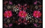 Fotobehang Vlies   Bloemen, Klassiek   Paars   254x184cm