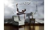 Fotobehang Vlies | Voetbal | Grijs | 254x184cm