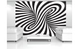 Fotobehang Vlies   3D, Design   Zwart   254x184cm