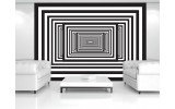 Fotobehang Vlies | 3D, Design | Zwart | 254x184cm