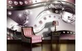 Fotobehang Vlies | Modern, Design | Zilver | 254x184cm