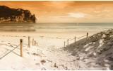 Fotobehang Vlies | Strand, Zee | Crème | 254x184cm