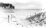 Fotobehang Vlies | Strand, Zee | Wit | 254x184cm