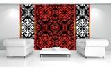 Fotobehang Vlies | Abstract | Rood, Zwart | 254x184cm