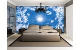 Fotobehang Vlies | Lucht, Wolken | Blauw | 254x184cm