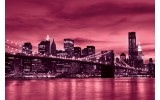 Fotobehang Vlies | New York | Roze | 254x184cm