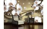 Fotobehang Vlies | Orchideeën, Bloemen | Wit | 254x184cm
