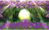 Fotobehang Vlies | Natuur | Groen, Paars | 254x184cm