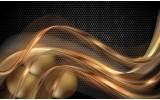 Fotobehang Vlies | Design | Goud, Zwart | 254x184cm