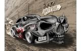 Fotobehang Vlies | Alchemy Gothic, Auto | Grijs | 254x184cm