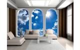 Fotobehang Vlies   Lucht, Wolken   Blauw   254x184cm