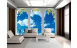 Fotobehang Vlies | Natuur, Lucht | Blauw | 254x184cm