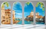 Fotobehang Vlies | Venetië, Stad | Blauw | 254x184cm