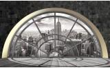 Fotobehang Vlies | Skyline, Modern | Grijs | 254x184cm