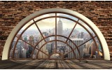 Fotobehang Vlies | Skyline, Modern | Bruin | 254x184cm