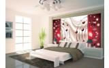Fotobehang Vlies | Modern | Rood | 254x184cm