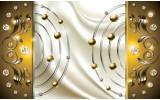 Fotobehang Vlies   Modern   Goud, Crème   254x184cm