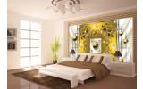 Fotobehang Vlies | Modern, Slaapkamer | Zilver, Geel | 254x184cm