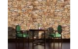 Fotobehang Vlies | Muur, Stenen | Bruin | 254x184cm