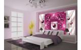 Fotobehang Vlies | Modern, Slaapkamer | Roze, Zilver | 254x184cm