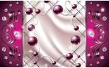 Fotobehang Vlies | Modern, Slaapkamer | Zilver, Roze | 254x184cm