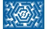 Fotobehang Vlies | Design | Blauw | 254x184cm
