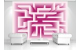 Fotobehang Vlies   Design, Doolhof   Roze   254x184cm