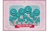 Fotobehang Vlies   Snoepjes   Roze, Turquoise   254x184cm