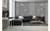 Fotobehang Vlies | Vogels | Grijs | 254x184cm