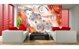 Fotobehang Vlies | Design, Rozen | Zilver, Oranje | 254x184cm