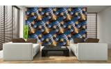 Fotobehang Vlies | Design | Bruin, Blauw | 254x184cm