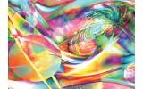 Fotobehang Vlies | Planeten, Abstract | Geel, Groen | 254x184cm