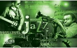 Fotobehang Vlies | Muziek, Jazz | Groen | 254x184cm
