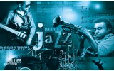Fotobehang Vlies | Muziek, Jazz | Blauw | 254x184cm