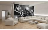 Fotobehang Vlies | Muziek, Jazz | Zwart, Wit | 254x184cm