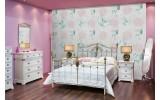 Fotobehang Vlies | Vlinder, Rozen | Roze, Turquoise | 254x184cm