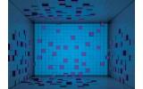 Fotobehang Vlies   3D   Blauw, Paars   254x184cm