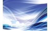 Fotobehang Vlies | Design | Wit, Blauw | 254x184cm