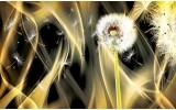 Fotobehang Vlies   Paardenbloem, Abstract   Goud   254x184cm