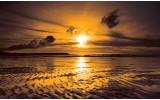 Fotobehang Vlies | Zee, Zonsondergang | Bruin | 254x184cm