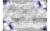 Fotobehang Vlies | Hout, Blomen | Paars | 254x184cm