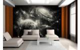 Fotobehang Vlies | Planeten | Zwart, Grijs | 254x184cm