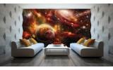 Fotobehang Vlies | Planeten | Oranje, Bruin | 254x184cm